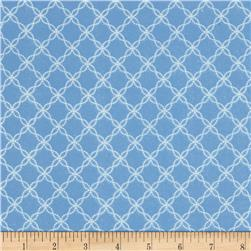 Kimberbell Little One Flannel Too! Flannel Lattice Blue