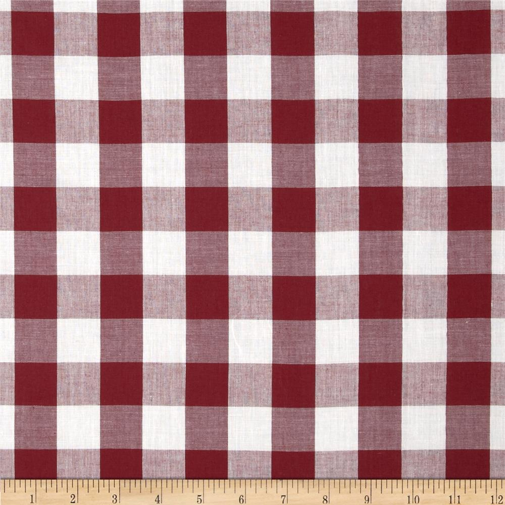 Gingham 1'' Checks Galore Burgundy