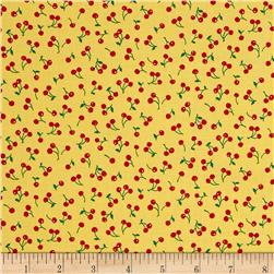 Kaufman Sevenberry Petite Classics Cherries Yellow