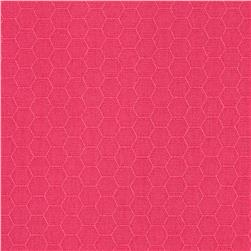 Kona Dimensions Honeycomb Hot Pink Fabric
