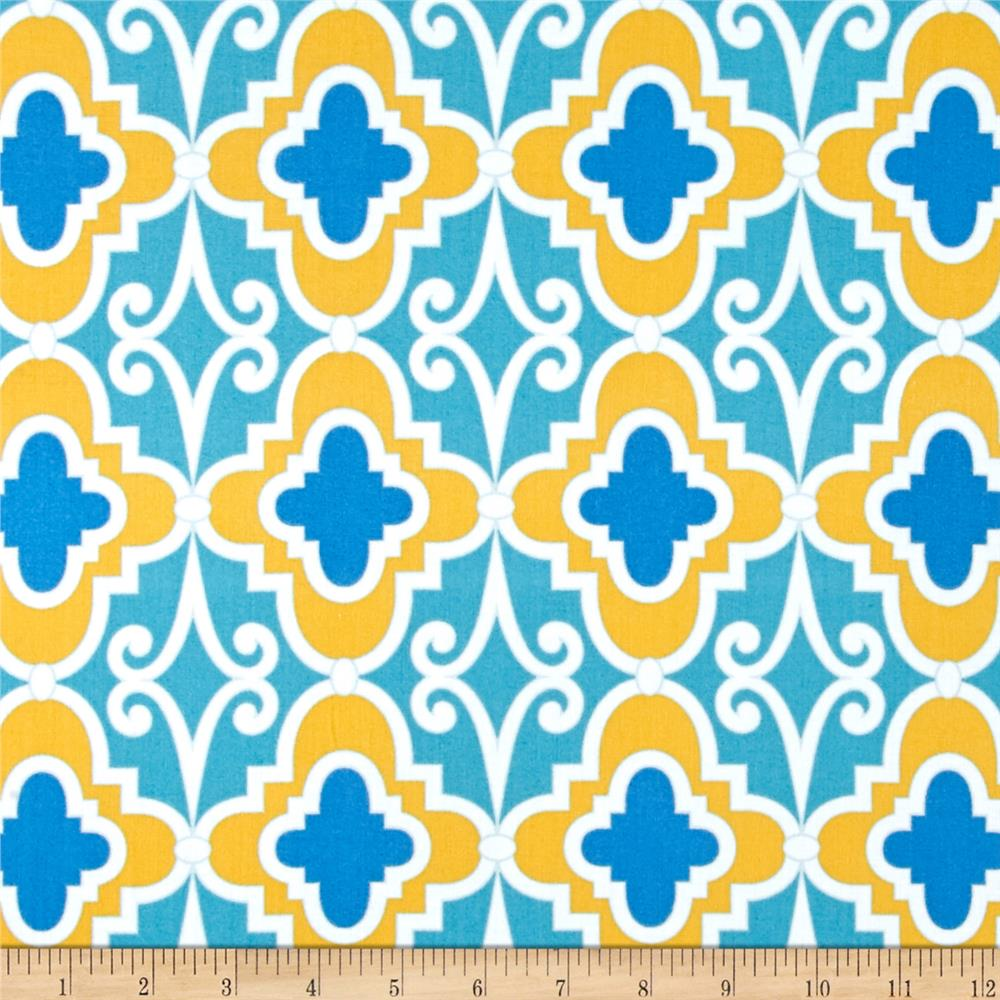 Butterfly Garden Lattice Turquoise