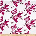 Fun Floral Activewear Hibiscus Hot Pink/Burgundy