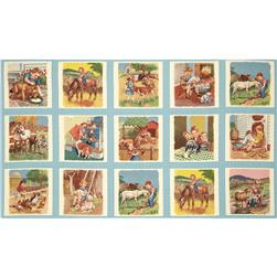 Moda Pot Luck Farmyard Panel Sky
