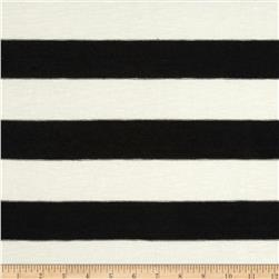Hatchi Sweater Knit Stripes Black/Ivory