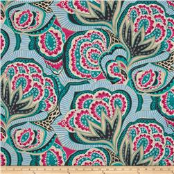 Amy Butler Linen Hapi Oasis Rose Fabric