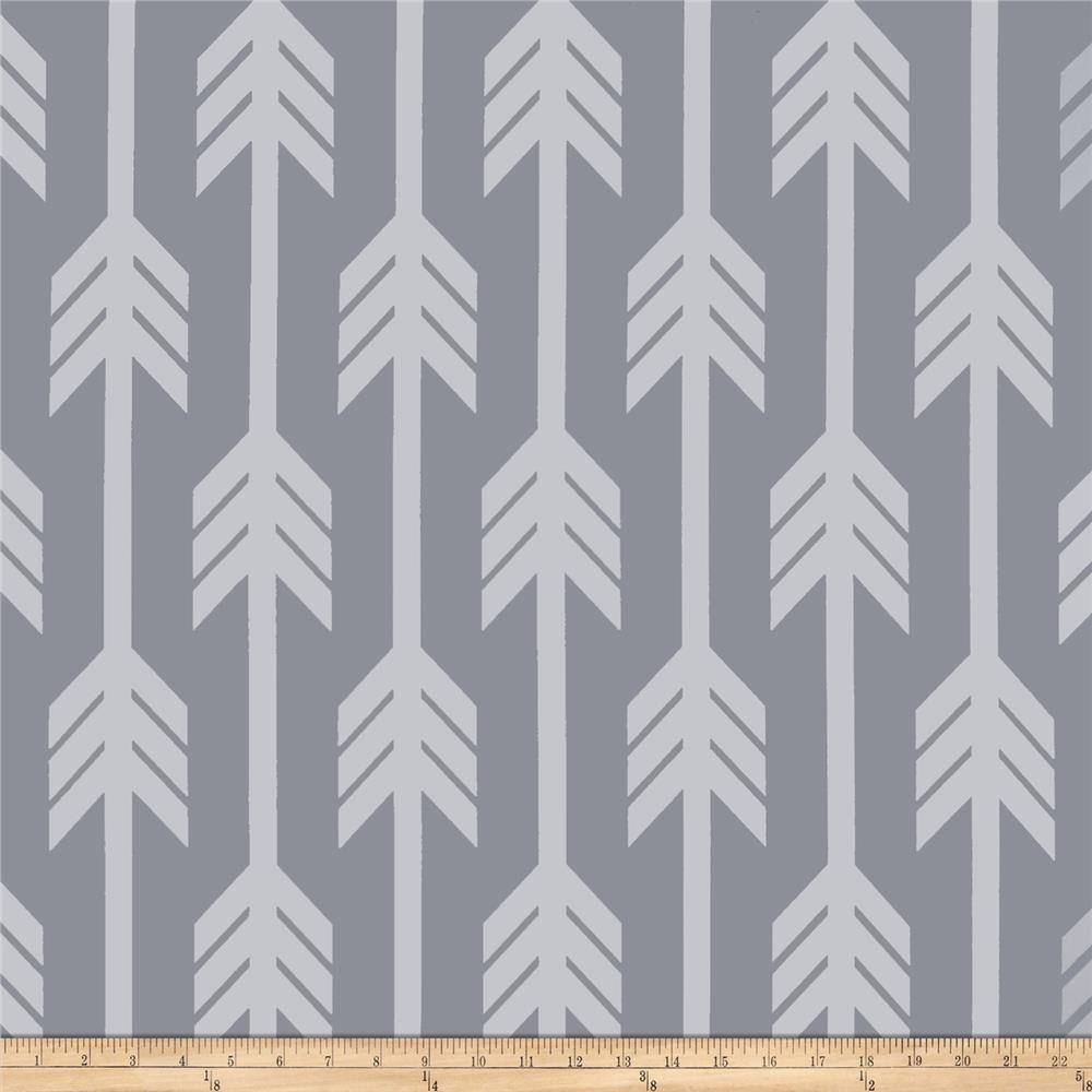 RCA Arrows Blackout Drapery Fabrics Grey/White