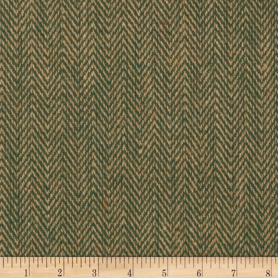 48'' Chevron Burlap Natural/Hunter Fabric