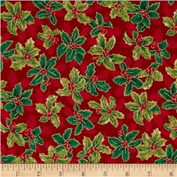 Lecien Winter Gift Elegant Holly Red