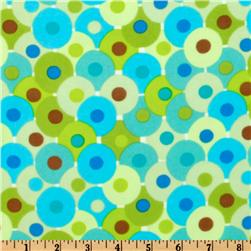 Bliss Flannel Circles Green
