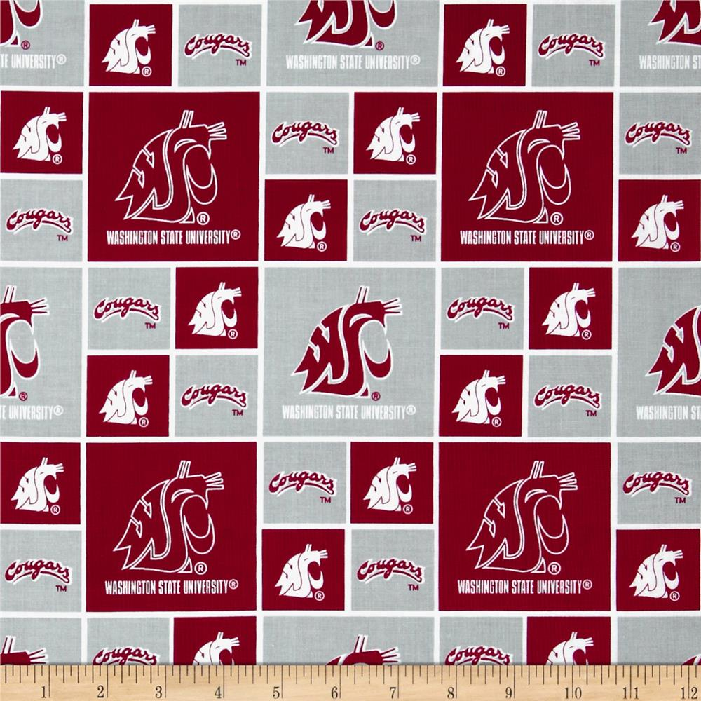 Collegiate Cotton Broadcloth Washington State University Red