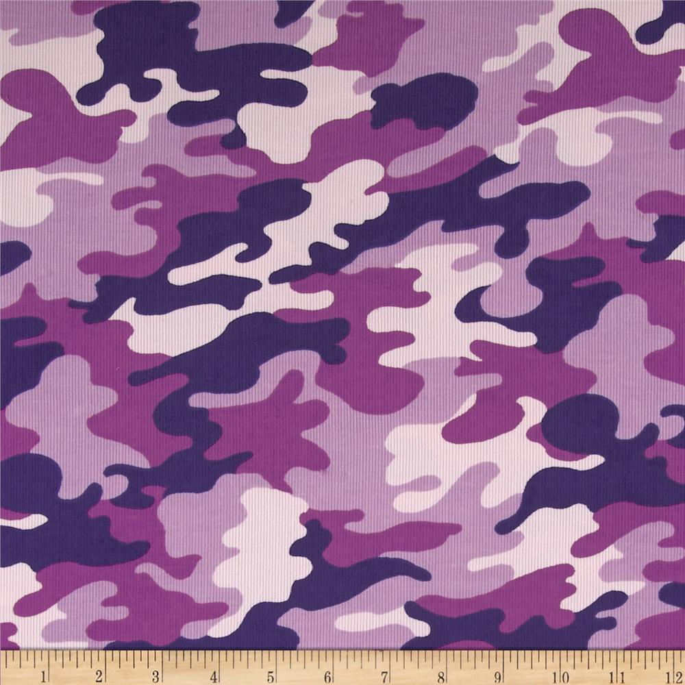 Kaufman cool cords camo orchid discount designer fabric for Purple baby fabric