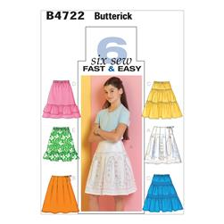 Butterick Girls' Skirt Pattern B4722 Size CH0