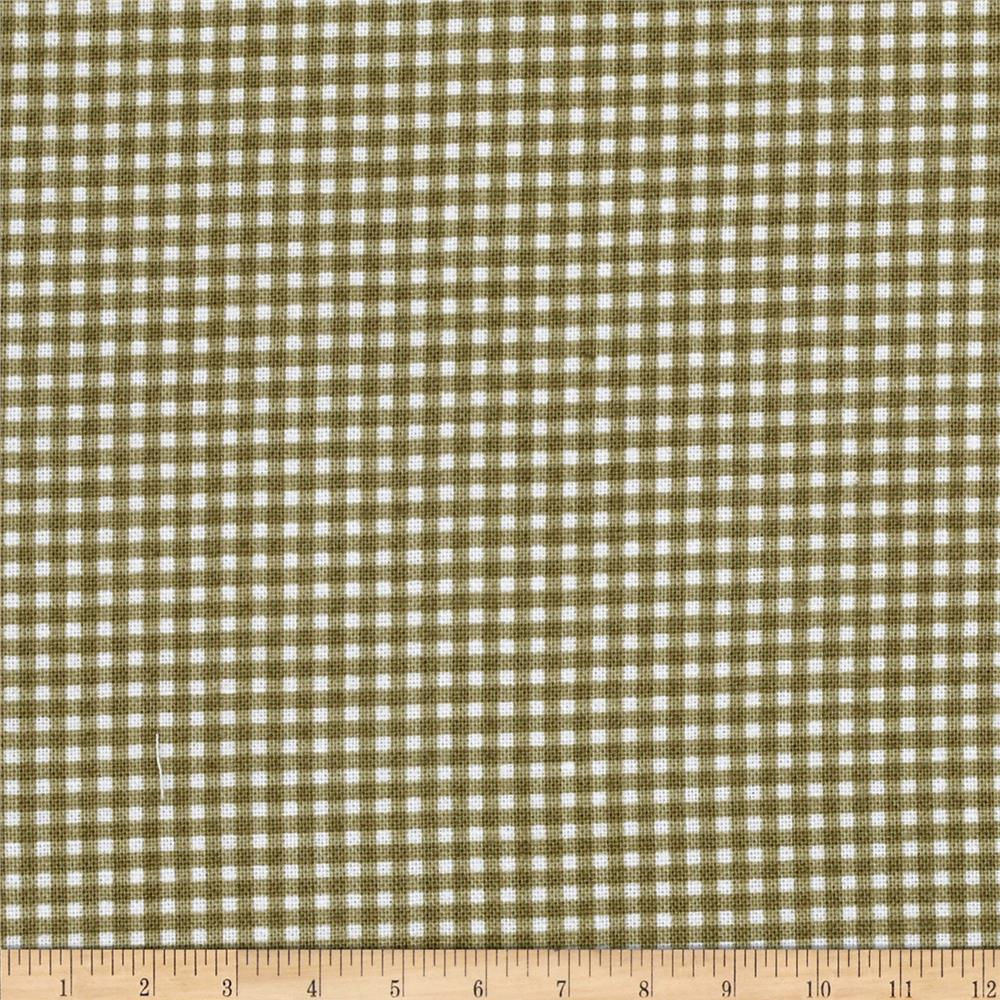 Michael Miller Tiny Gingham Camo