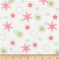 Cozy Cotton Flannel Multi Floral Pastel Fabric