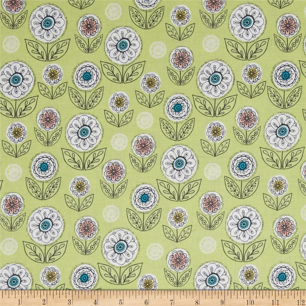 Riley Blake Dutch Treat Garden Green