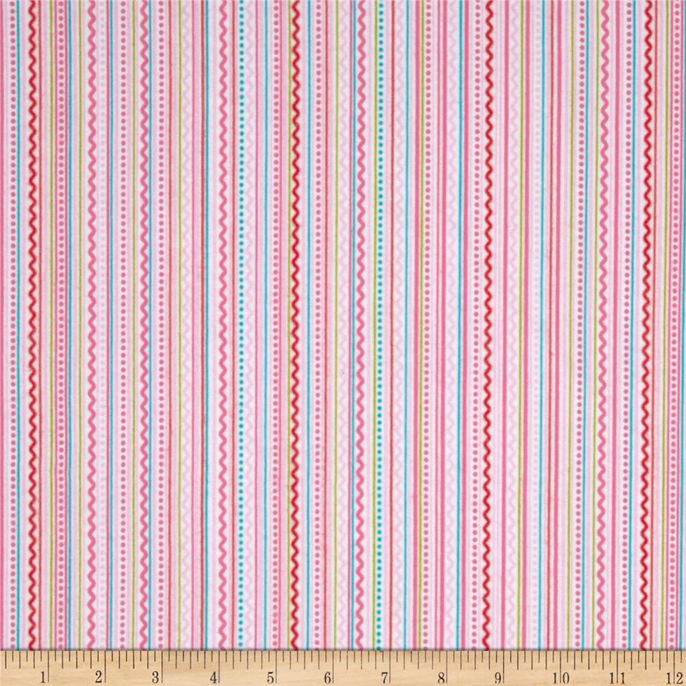 Riley Blake Summer Breeze Flannel Stripe Pink