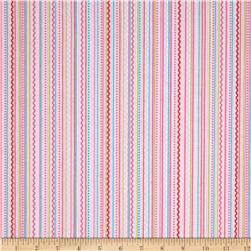 Riley Blake Summer Breeze Flannel Stripe Pink Fabric