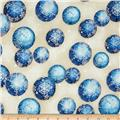 Kaufman Radiant Holiday Metallic Ornaments Frost