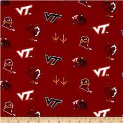 Collegiate Cotton Broadcloth Virginia Tech II