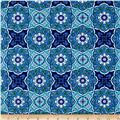 By The Sea Urchin Medallion Sea Blue
