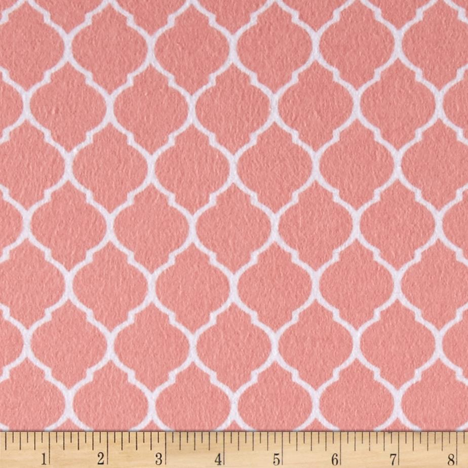 Flannel Trellis Watermelon/White Fabric