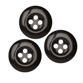Fashion Button 5/8'' Williamsburg Black