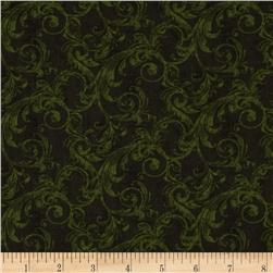 Alpine Woods Alpine Scroll Forest Fabric