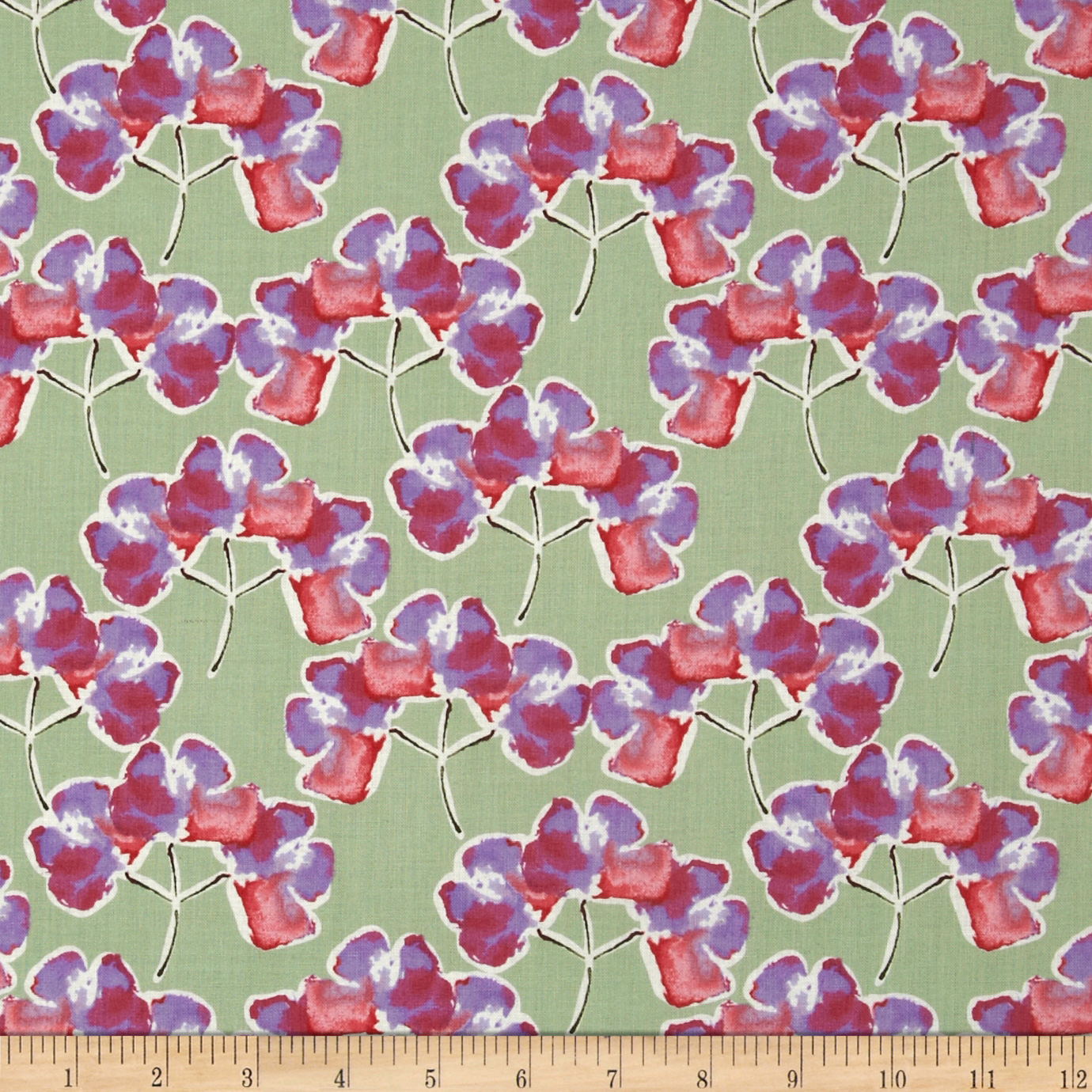 Blossoming Florets Raspberry Fabric