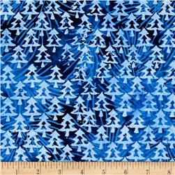 Island Batik Tinsel Tree Navy/Blue