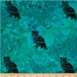 Indian Batik Animal Planet Owl Teal