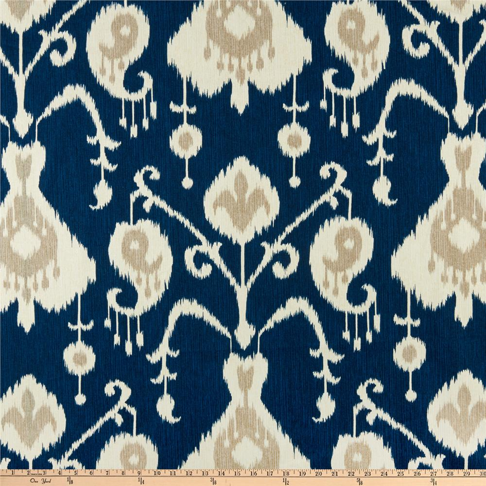 Navy ikat curtains - Zoom Magnolia Home Fashions Java Navy