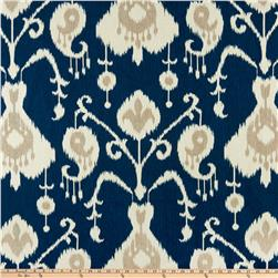 Magnolia Home Fashions Java Ikat Navy Fabric