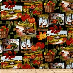 Timeless Treasures Pumpkin Patch Plaid Green