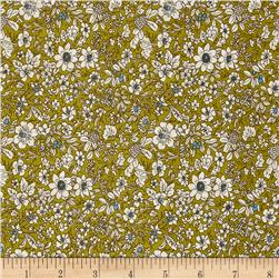 Telio Hampton Court Cotton Shirting Dainty Floral Chartruese