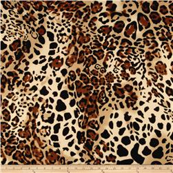 Ponte de Roma Big Cheetach Print Brown