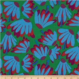 Kaffe Fassett Collective Lazy Daisy Green Fabric