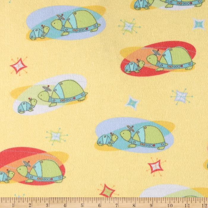 Bot Buddies Flannel Turtlebots In Orbit Yellow