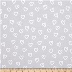 Kaufman Penned Pals Hearts Grey