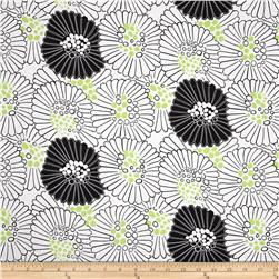 Mojito Large Toss Floral White Fabric