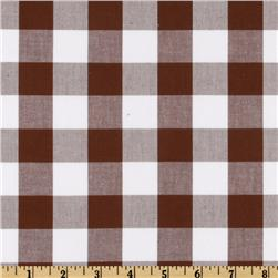 "Woven 1"" Cotton Carolina Gingham Cocoa"