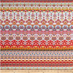 Ethnic ITY Prints Red/Pink/Aqua