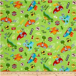 Marcus Go Go Dino! Collage Green