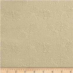 Designer Embossed Floral Knit Tan