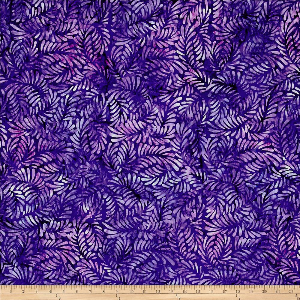 Wilmington Batiks Feathers Purple/Blue