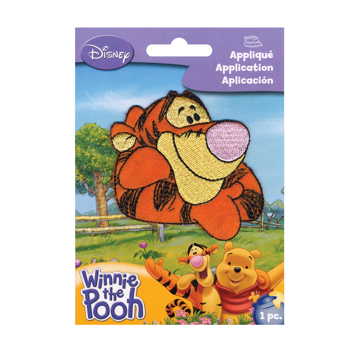 Disney Winnie The Pooh Iron On Applique Tigger by Notions Marketing in USA