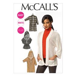 McCall's Misses'/Women's Cardigans Pattern M6802 Size B50