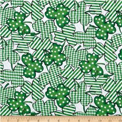 Kiss Me I'm Irish Geometric Clusters White