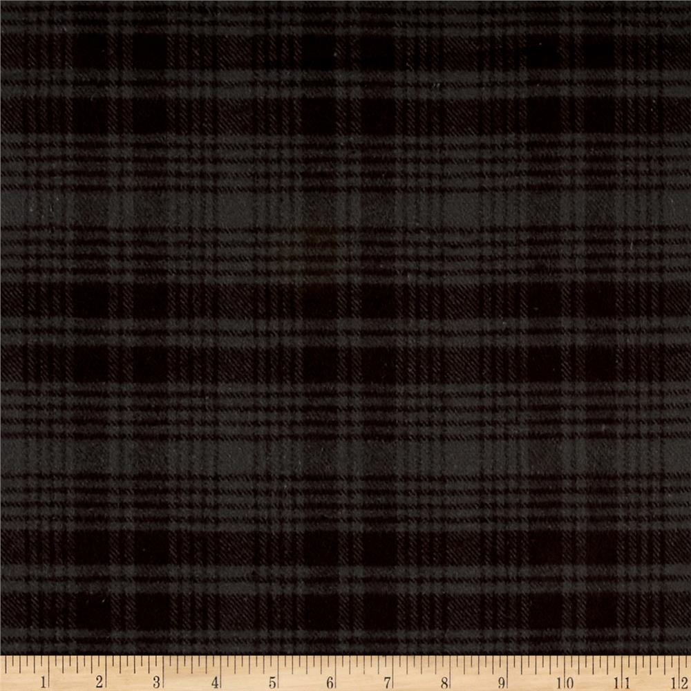 Primo Flannel Smoky Plaid Grey Fabric By The Yard