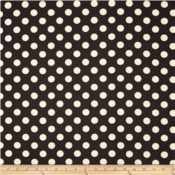 Riley Blake Home Décor Dots Black