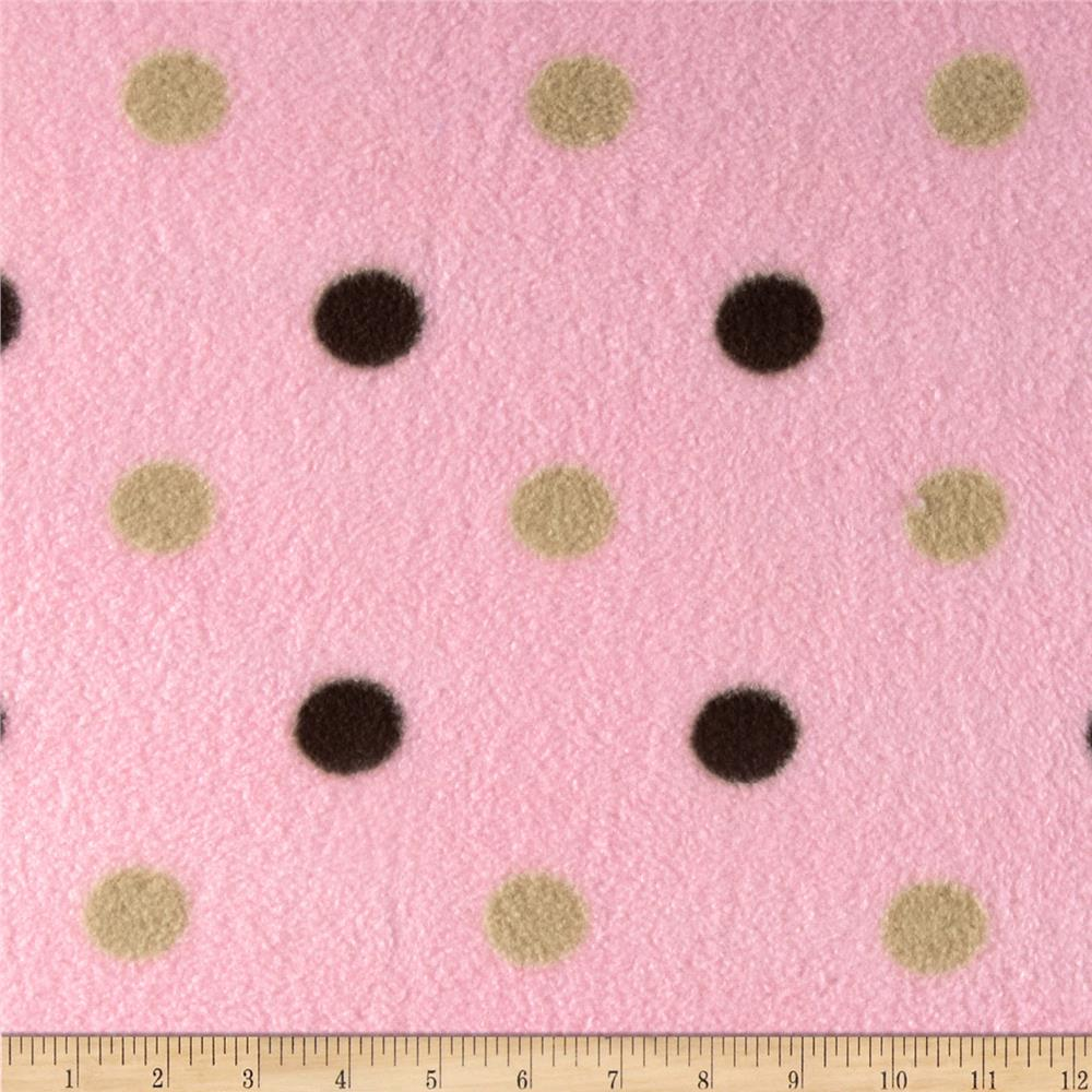 ABC Wiggly Dots Fleece Baby Pink